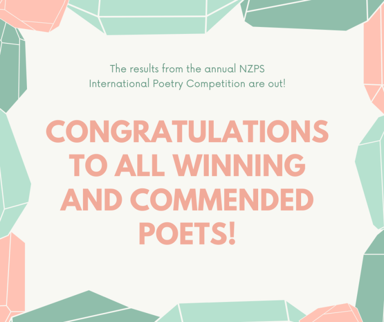Congratulations to all winning and commended poets!